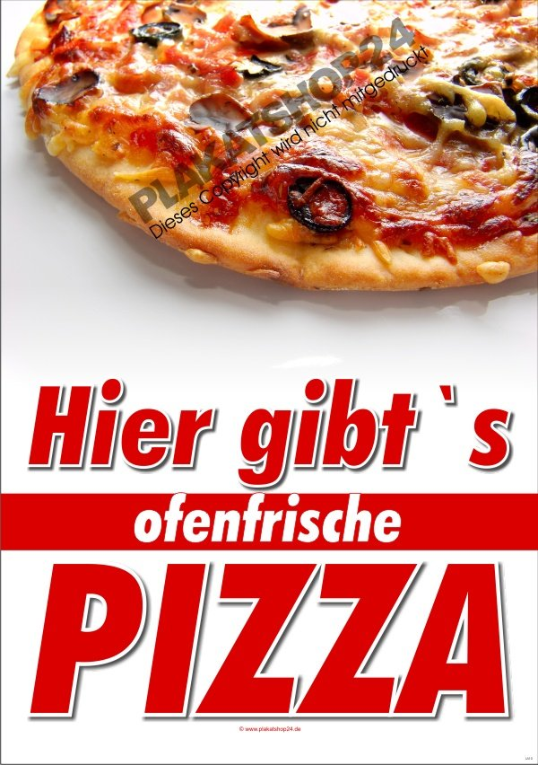 pizzaplakat f r werbung in pizzeria und gastronomie pizza pasta gastronomie medien nach. Black Bedroom Furniture Sets. Home Design Ideas