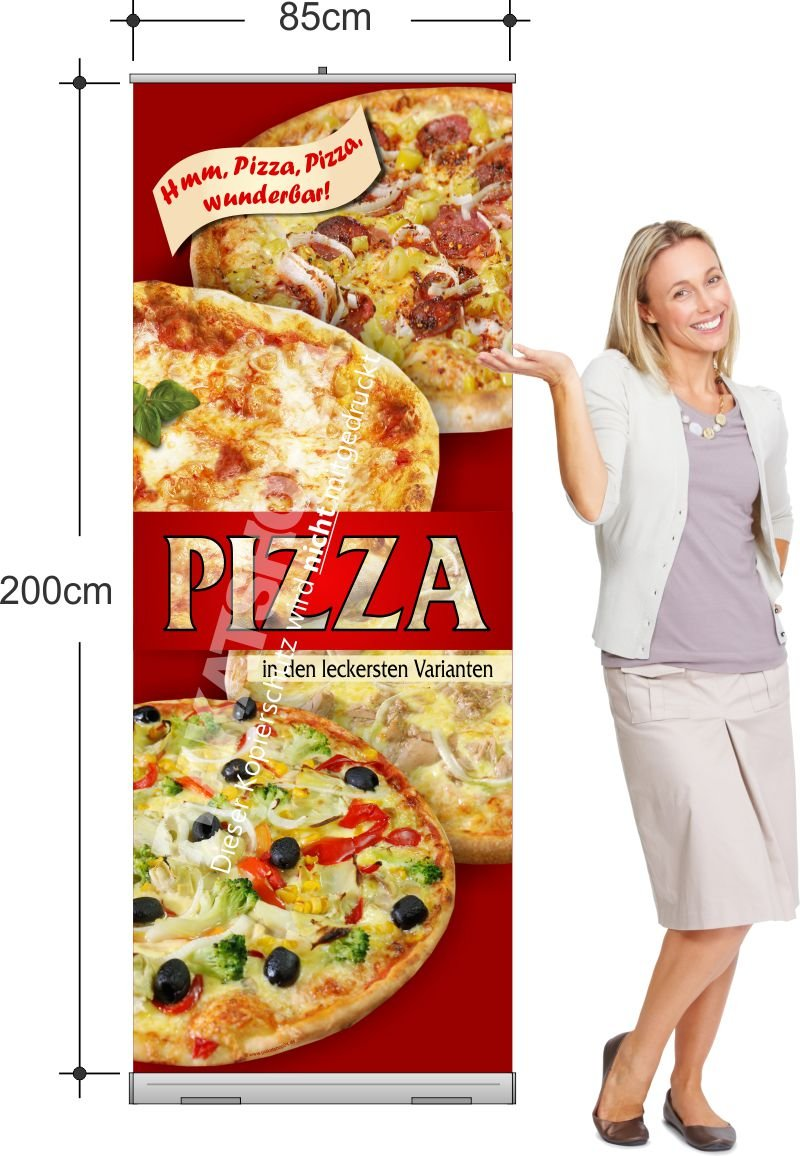 pizza rollup banner f r pizzeria pizza pasta gastronomie medien nach branchen plakatshop24. Black Bedroom Furniture Sets. Home Design Ideas