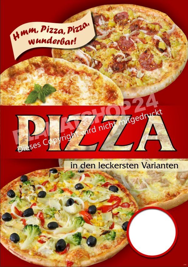 pizza plakat f r pizzawerbung in der gastronomie pizza pasta gastronomie medien nach. Black Bedroom Furniture Sets. Home Design Ideas