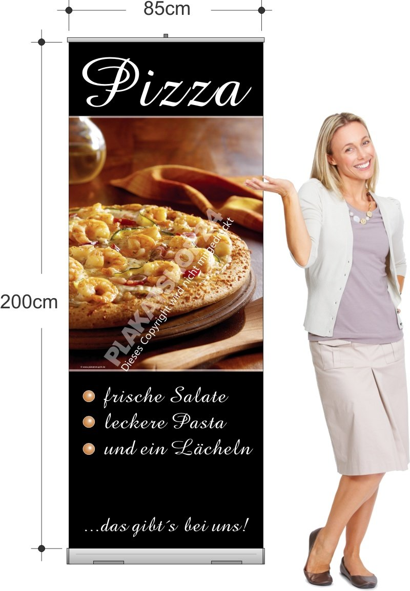 rollup banner f r die italienische gastronomie pizza pasta gastronomie medien nach. Black Bedroom Furniture Sets. Home Design Ideas
