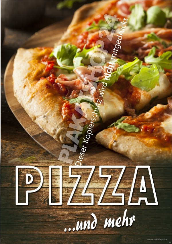 werbeplakat f r pizzeria mit sch nem pizzafoto pizza pasta gastronomie medien nach. Black Bedroom Furniture Sets. Home Design Ideas